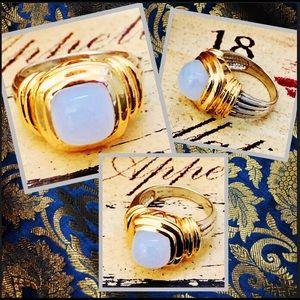 Designer Vintage Peter Brams 14k Sterling Ring